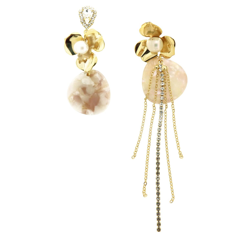 Ohrschmuck Filomea, gold crystal perle rose 0