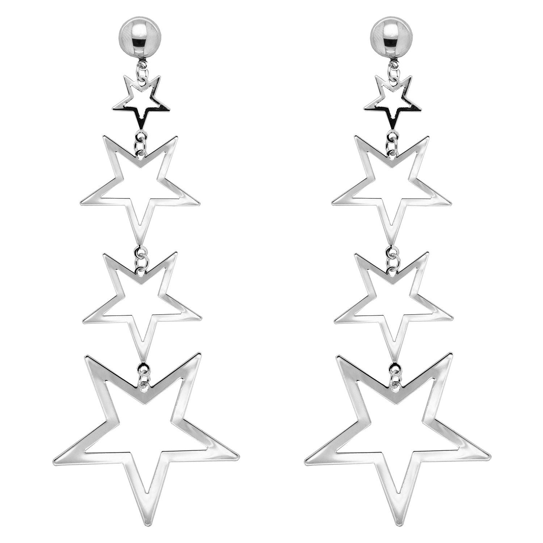 Ohrschmuck Sterne, silber 0
