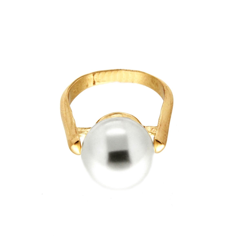Ring Benita, gold pearl 0