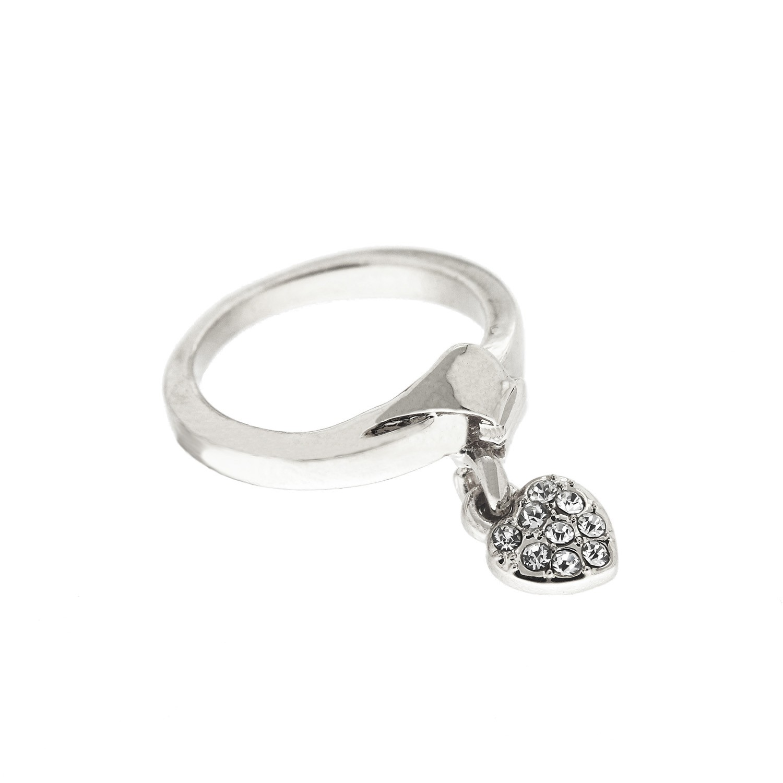 Ring Crystal Heart, silber crystal 0