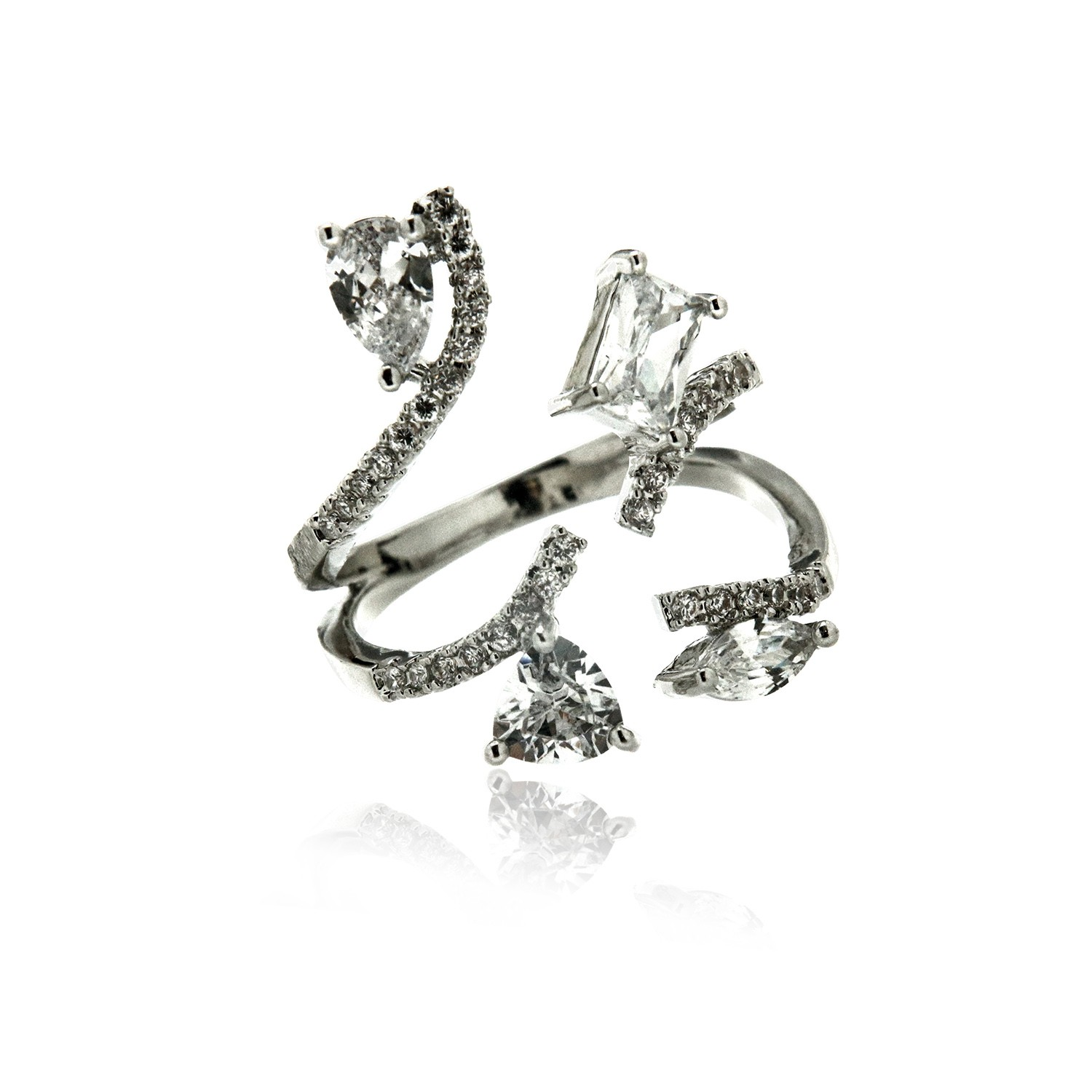 Ring Fama, silber crystal 0