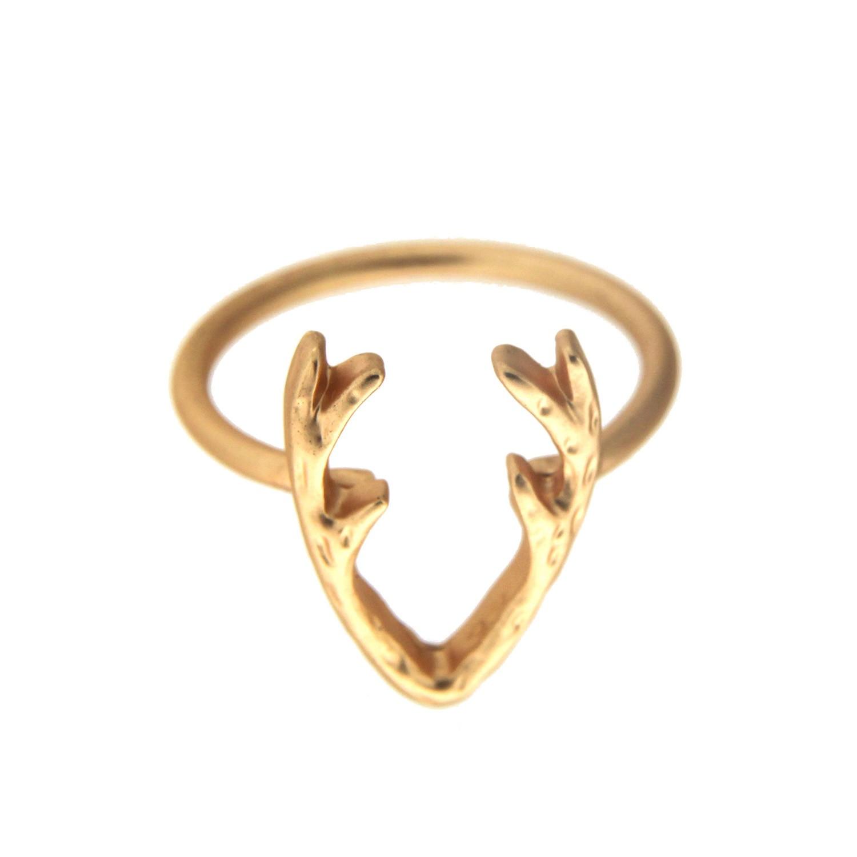 Ring Horns, mattgold 0