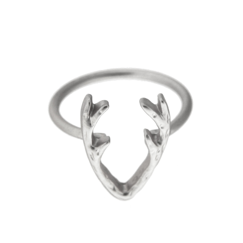 Ring Horns, matt silber 0