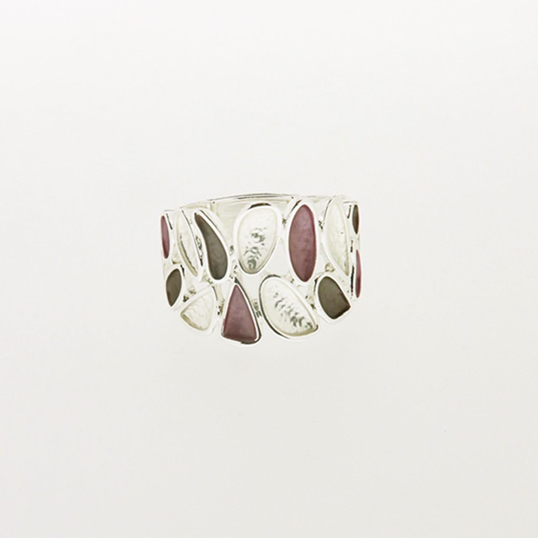 Ring, mattsilber rose bronze 0