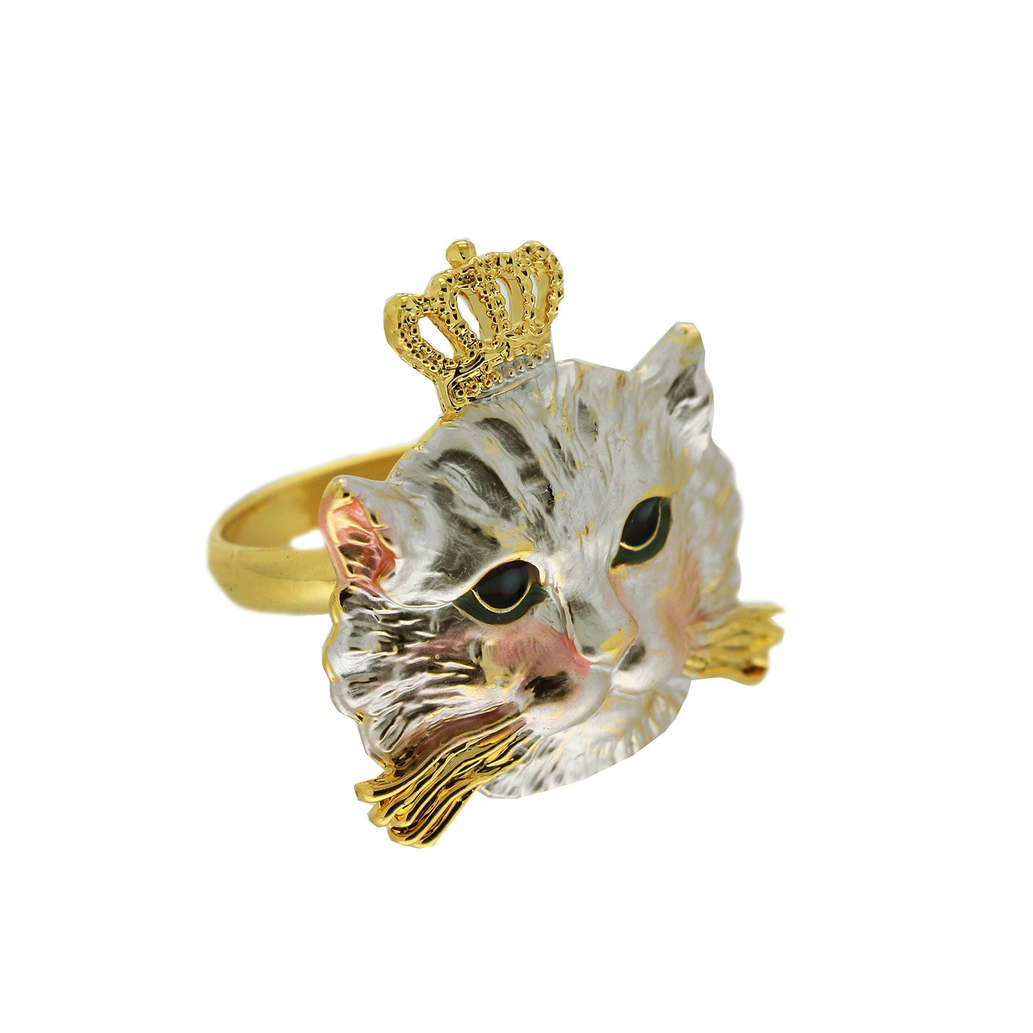 Ring Queen of Cats, gold silber 0