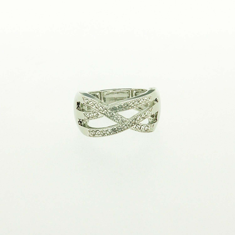 Ring, silber crystal 0
