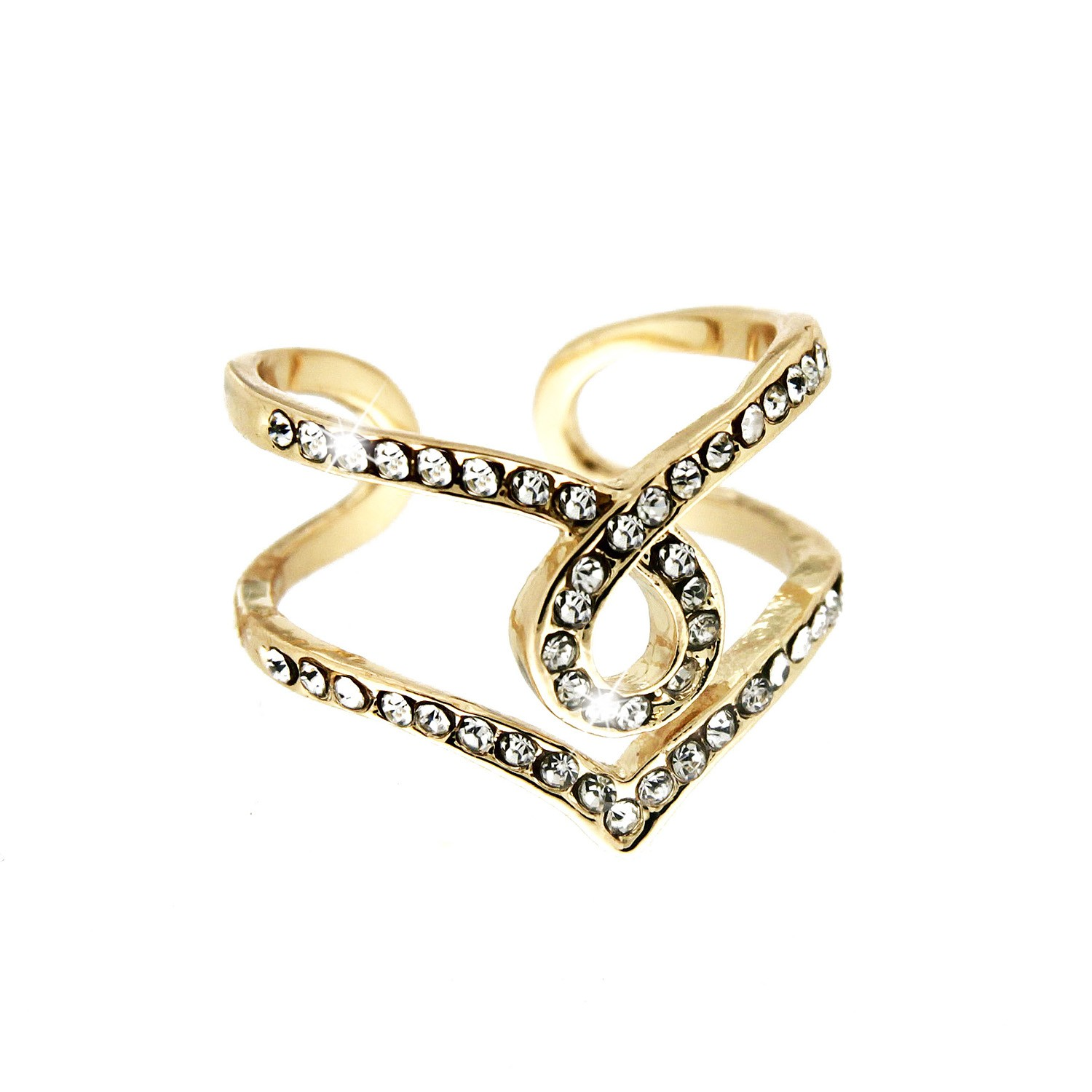 Ring Sonia, gold crystal 0