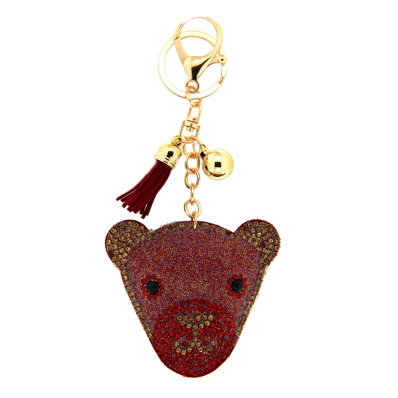 Schlüsselanhänger Bear, rot gold 0