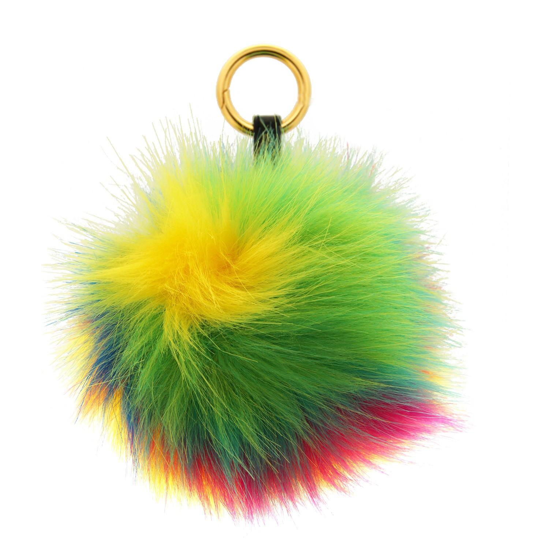 Schlüsselanhänger Pom-pom, gold multi 0