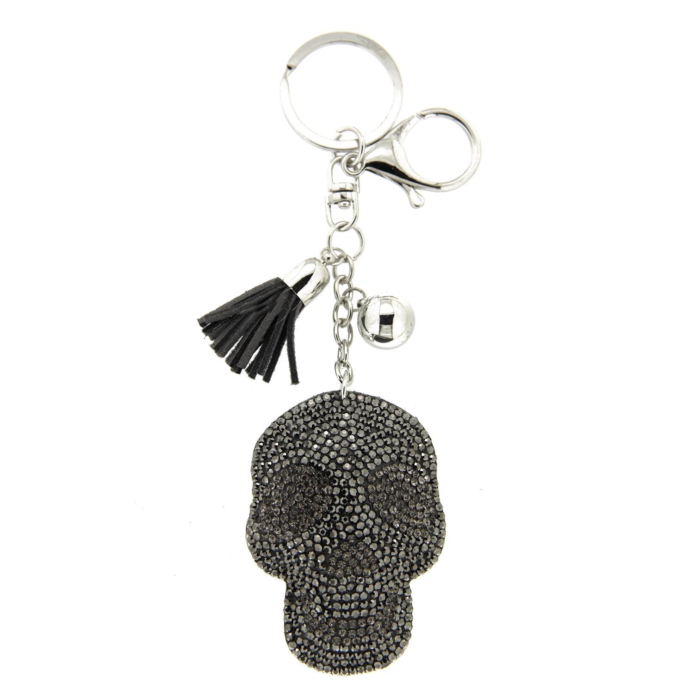 Schlüsselanhänger Skull,silber hematite bl.diamond 0