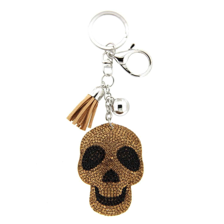 Schlüsselanhänger Skull, silber topaz jet 0
