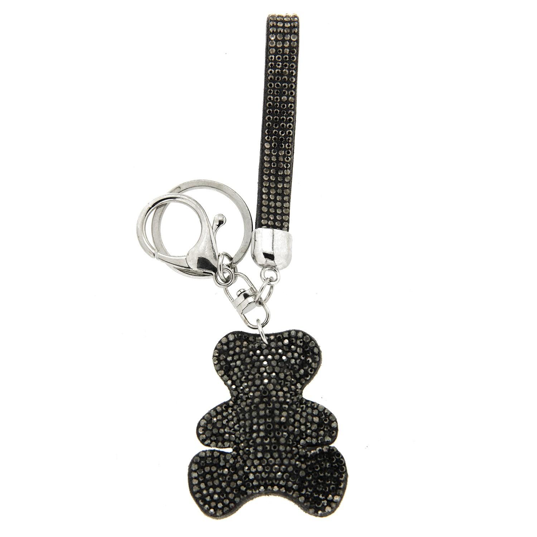 Schlüsselanhänger Teddy, silber hematite 0