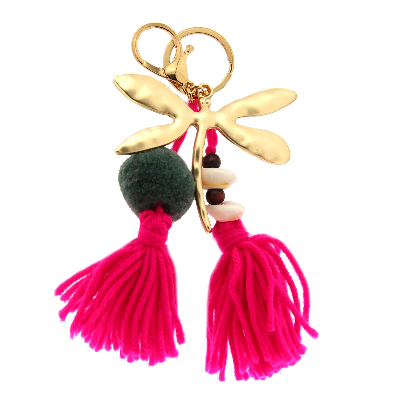 Schlüsselanhänger Thia, mattgold pink mix 0