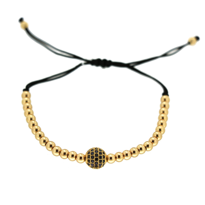 Sliding Armband Aranka, schwarz gold 0