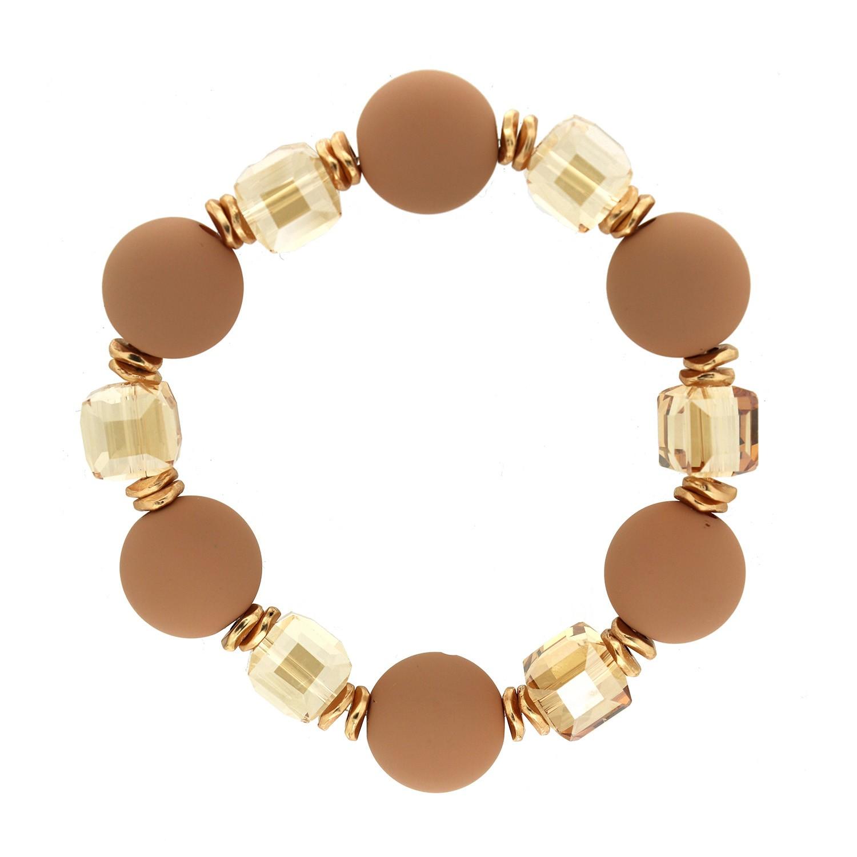 Stretcharmband Tristana,braun gold braun crystal 0