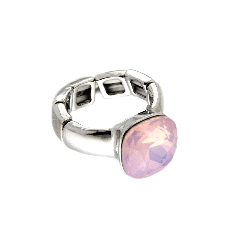 Stretchring Diva, silber rose opal 0