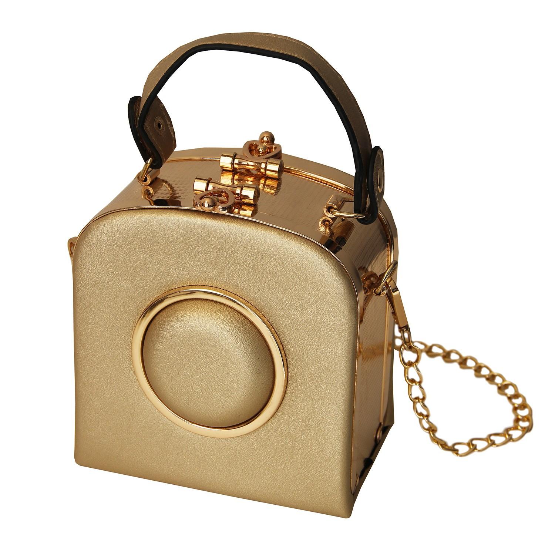 Tasche Lack, mattgold gold 0