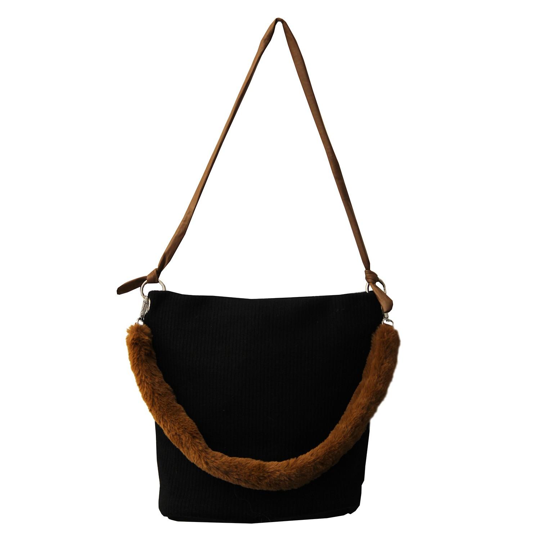 Tasche Trista, schwarz braun 0