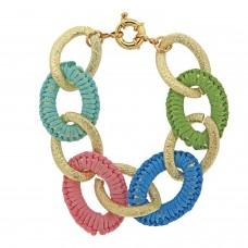 Armband Feeelija, gold/pastell