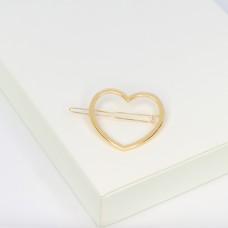 Haarspange Herz, gold