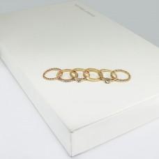 Ringset Cara, 6 tlg., gold/crystal