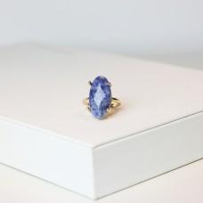 Ring Beryll, gold/grau