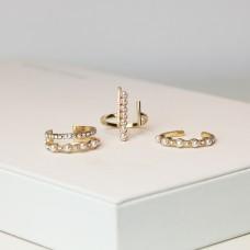 Ring -Set Britney, gold/crystal