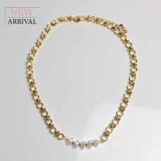 Kette Alberte, gold/pearl