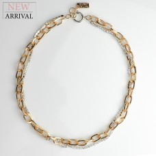 Kette Bluebell, gold/silber/crystal