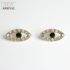 Ohrschmuck Eye, gold/schwarz
