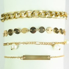 Armband-Set Fiametta, gold pearl 0