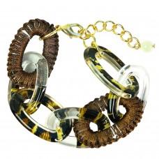 Armband Assunta, gold braun mix 0