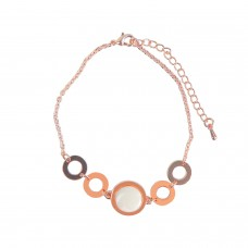 Armband Atara, rosegold weiß 0