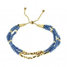 Armband Fajar, blau gold 0