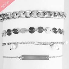 Armband Fiametta, silber pearl 0