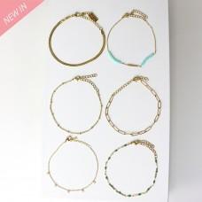 Armband Set Bulan, gold türkis grün crystal 0