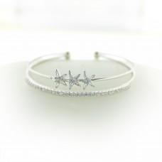 Armreif Seastar, silber crystal 0