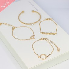 Armschmuck-Set Egzona, gold crystal 0