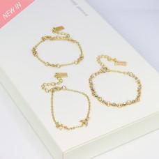 Armschmuck-Set Elettra, gold crystal 0