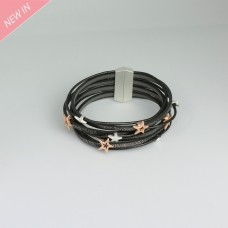 Arnband Sterne, grau silber rosegold 0