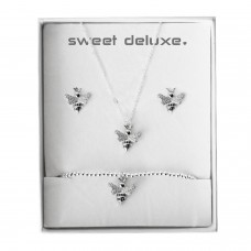 Box small bee silver 0