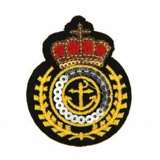 Brosche Marine, schwarz gold rot 0