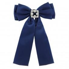 Brosche Schleife Big, royal blau crystal 0