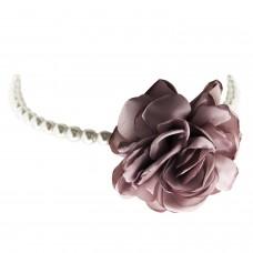 Choker Rose, silber pearl rose 0