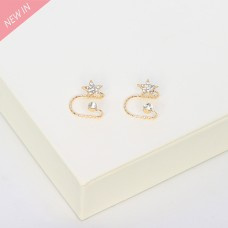 Ear Cuff Crystal Star, gold crystal 0