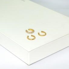 Earcuffs Dorisa, 3 tlg., gold crystal 0