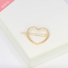 Haarspange Herz, gold 0