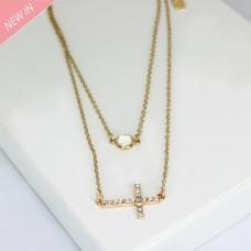 Halsschmuck Aitana, zweireihig, gold crystal 0