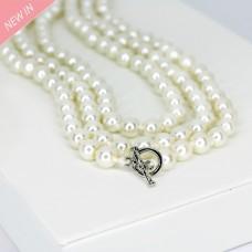 Halsschmuck Beatrice, pearl silber 0