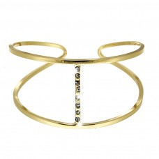 Armreif Zita, crystal/ gold plating 0